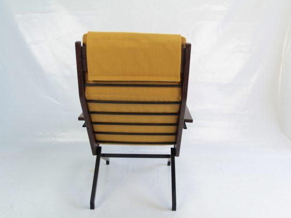 Rob Parry Lotus vintage design stoel geel achterkant