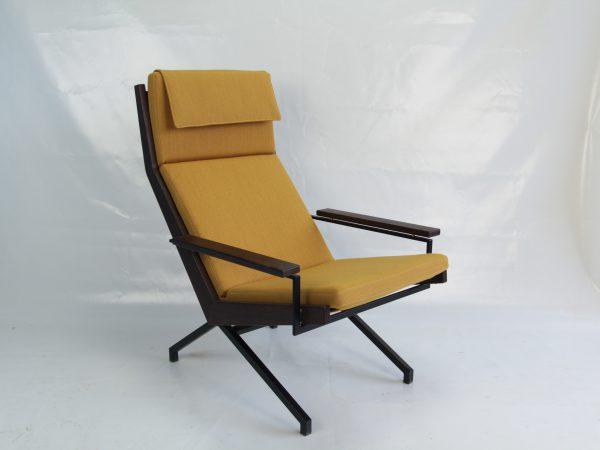 Rob Parry Lotus vintage design stoel geel wenge